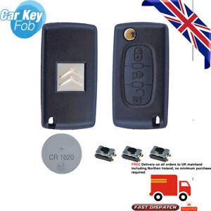 For CITROEN C5, C4 GRAND PICASSO C6 3 Button KEY FOB CASE REPAIR KIT CE0523 05B