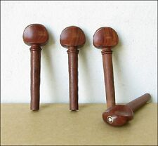 Reddish Rosewood/Gold Ring/Pearl Inlay Violin Pegs (A Set of 4)