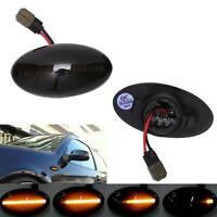 2 X Black Lens Side Indicator LED Repeater Light For Mini Cooper S R50 R52 R53