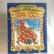 Christmas With Mary Engelbreit Here Comes Santa Claus Book with Dust Jacket