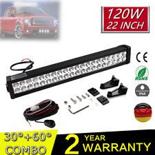 """120W 24"""" Barre à LED phare de travail Work Light Bar Rampe Feux offroad 12V 24V"""