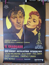 A3605 El graduado Mike Nichols Dustin Hoffman,  Anne Bancroft,  Katharine Ross,
