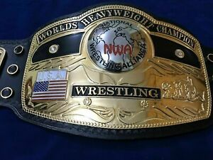 NWA Domed Globe World Heavyweight Wrestling Championship Belt.Adult Size