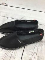 Havaianas Espadrilles UNISEX Black Slip On Breathable Canvas Shoes 9.5