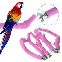 Pet Bird Cage Perches Stand Platform Chew Toy Paw Grinding For Parakeet Parrot