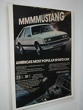 1980 Ford Mustang Magazine Ad Advertisement Full Color Laminated Sealed