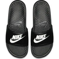 Nike Mens Benassi Jdi Flip Flops Slides Pool Beach Sandals Sliders Black Navy