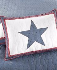 MARTHA STEWART STAR SPANGLED STANDARD SHAM MSRP $60 NEW IN OPENED PACKAGE