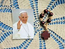 Pope Francis Nightly Prayer Beads, Wood Beads & Cross NEW in pkg. OUTSTANDING!