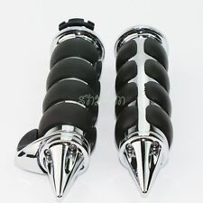 "Motorcycle 1"" Chrome Hand Grips Fit For Honda Shadow VT1100 750 600 VTX1300 1800"