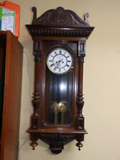 NICE  SMALL 2 WEIGHT WALL CLOCK  1880 - 1900 ONLY 37,5 INCH
