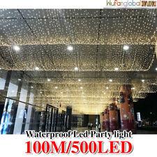 SAA 500LED 100M Fairy Christmas String Lights Warm White Wedding Party Garden