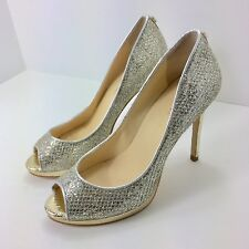 4152c4133fcd IVANKA TRUMP Womens ItMaggie2 Peep Toe Pumps Heels Size 6M Sparkle Gold