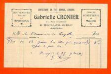 NEUFCHATEL-EN-BRAY (76) GABRIELLE CRONIER / CONFECTIONS / FACTURE 1915