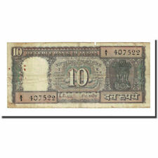 [#169891] Banknote, India, 10 Rupees, undated (1969), KM:69b, VF(20-25)
