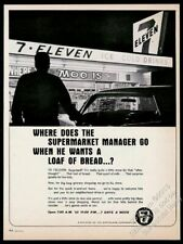 1966 7-11 7-Eleven store late-night shopping photo vintage print ad