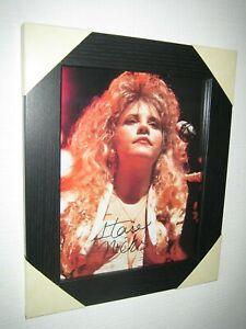 Stevie Nicks - Gorgeous Hand Signed Photo {8x10} Framed With CoA