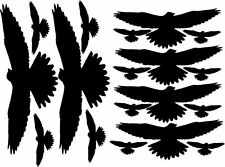 Vogelschreck XL-Set 9 tlg. Aufkleber Folie Vogelschutz Abwehr Fensteraufkleber