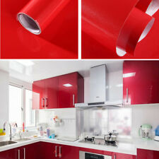 2/5m Gloss Oil Proof PVC Self Adhesive Contact Paper Kitchen Wall Sticker Decor