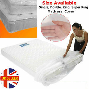 Durable 4 Size Bed Mattress Bag Heavy Duty Dust Protector Plastic Storage Cover