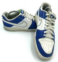 Nike Backboard II Leather Sports Trainers UK 7 EU 41 487657-104 Blue White
