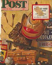 The Saturday Evening Post June 30 1945 John Atherton Vintage Birthday Gift