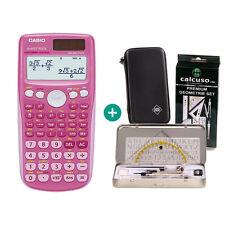 Casio FX 85 GT Plus Pink Taschenrechner + Schutztasche und GeometrieSet