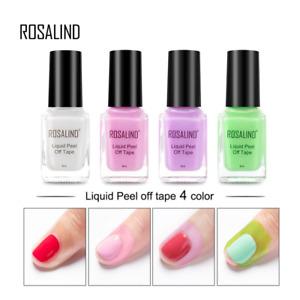 Rosalind Peel Off Liquid Latex Skin Guard Tape Protect Nail Gel 4 Colours UK