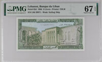 LEBANON 5 LIVRES 1986 P 62 SUPERB GEM UNC PMG 67 EPQ