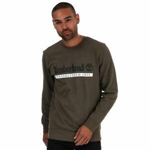 Men's Timberland Established 1973 Regular Fit Crew Neck Sweatshirt in Green