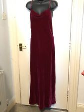 RESOURCE Dress Long Red Velvet Gown Size 10