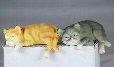 SHELF CATS, KITTEN SHELF EDGES, Set OF 2 ASSORTED, PET MODELS, LOVELY GIFT