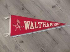 Waltham Massachusetts High School Mass MA Vintage Felt Pennant Flag Football