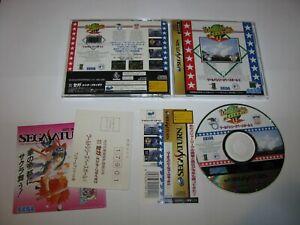 World Series Baseball II Sega Saturn Japan import + spine card reg US Seller
