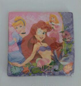 Hallmark Disney Princess Napkins 16 Pack Ariel Cinderella Aurora NEW