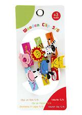 New 1 packs (6 animal peg clip) loot party bag stock filler