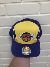 Mitchell & Ness NBA Los Angeles Lakers Snapback Chapeau Bonnet Bnwt Flexifit