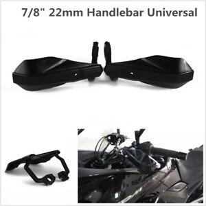 "Pair Black Motorcycle Racing 7/8"" 22mm Handlebar Hand Guards Handguard Protector"