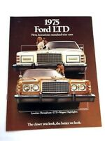 1975 Ford LTD 12-page Original Car Sales Brochure Catalog - Country Squire Wagon