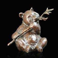 Panda Solid Bronze Foundry Cast Sculpture Richard Cooper Michael Simpson (928)
