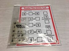 SUBTRACTION (Set Of 10)  - Laminated Activity Cards With  55 Number Tiles- 0-9