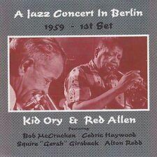 RED ALLEN (TRUMPET)/KID ORY - A JAZZ CONCERT IN BERLIN 1959 NEW CD