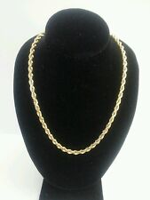 """14k YELLOW GOLD ROPE NECKLACE LINK 19.5"""" CHAIN"""