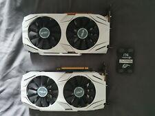 2 x Asus Nvidia Geforce GTX 1070 08G OC edition + SLI Bridge Dual GPU setup.
