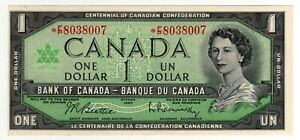 1967 Canada 1 Dollar Replacement Note - Out of Register - *FP8038007, BC-45bA-i
