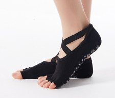 2 pairs Yoga Socks with Non-Slip Grip Toe less