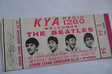 BEATLES 1966__Candlestick Park *** UNUSED *** CONCERT TICKET__Super nice!!!  EX+