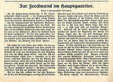 Der Zar aller Bulgaren Ferdinand im Hauptquartier * Historische Memorabile 1916