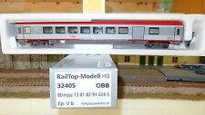 RAIL TOP 32405 EuroCity 2 CL.Salone/BAGAGLIAIO Nuova livrea bigrigio/rosso OBB