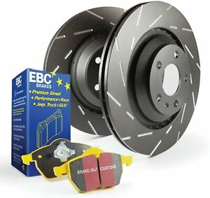 EBC Brakes S9KR1270 Stage 9 Yellowstuff and USR Rotors Slotted, Rear